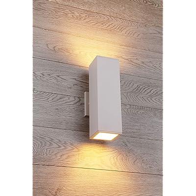 Cerdeco 37851TZ Brandon 2-Light Outdoor Wall Lamp, Matte White [UL Listed]