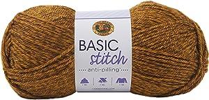 LION BRAND YARN COMPANY Yarn Basic Stitch Heath, Gold Heather