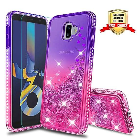 sneakers for cheap 523fd c142a Galaxy J6 Plus Case, Samsung Galaxy J6 Prime Case,Samsung Galaxy J6+ Case,  Atump Fun Glitter Liquid Sparkle Diamond Cute TPU Silicone Protective Phone  ...