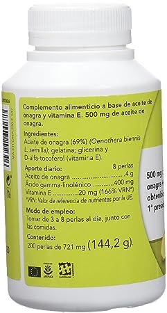 Eladiet Onagra, Aceite de Oenothera - 200 Perlas: Amazon.es ...