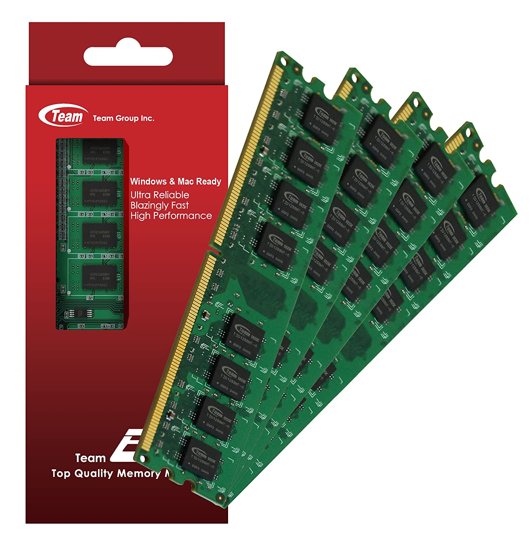 4GB (1GBx4) Team High Performance Memory RAM Upgrade For HP - Compaq  Presario SR1630NX SR1638NX SR1639UK SR1650NX Desktop. The Memory Kit comes  with Life ...