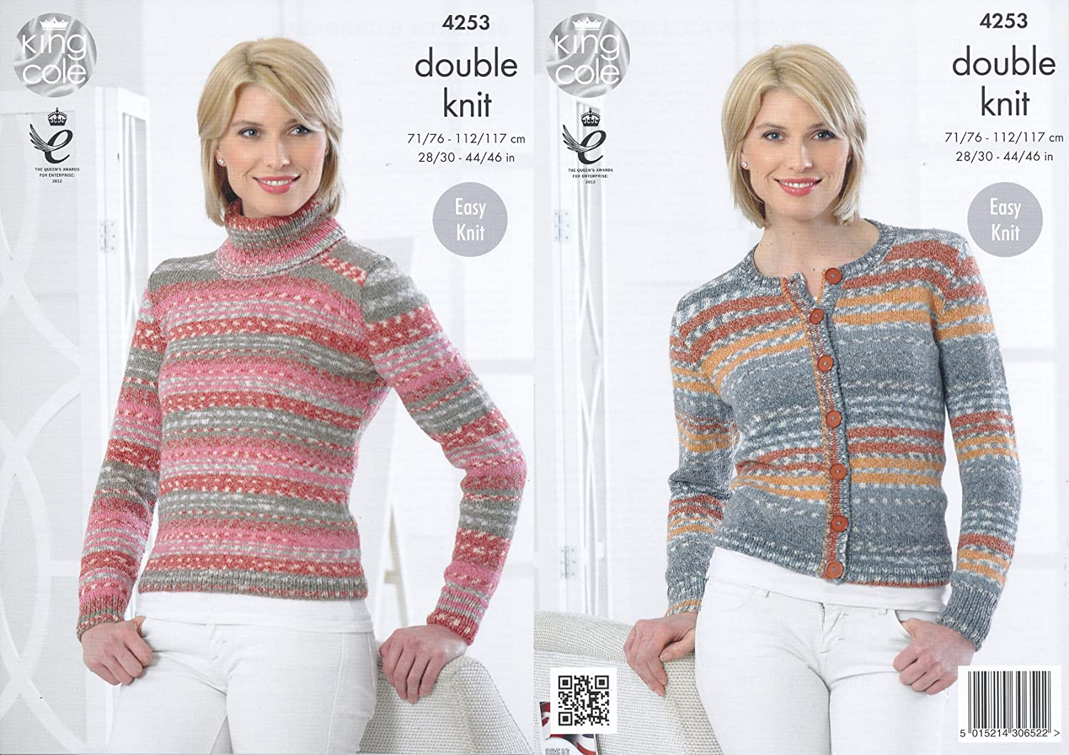 King Cole Ladies Double Knitting Pattern Womens Polo Neck Sweater