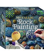 Metallic Rock Painting Square Tuck Box