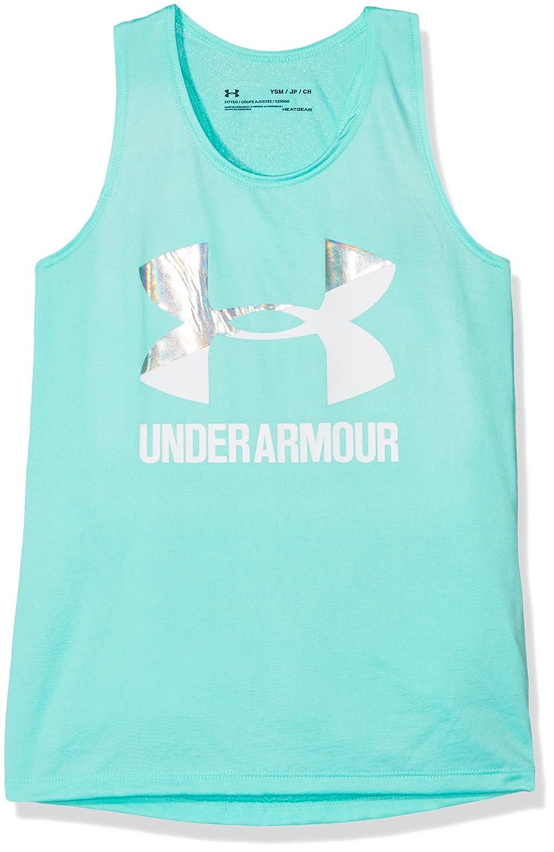 Under Armour Girls Big Logo Slash Tank Top