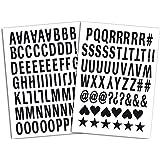 Mademoiselle Toga MEG604 Alphabet de 126 lettres thermocollantes Enjoy Tissu Noir 15,5 x 27,5 x 0,1 cm