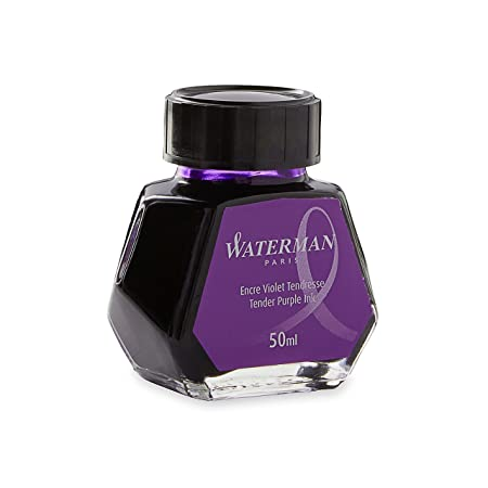 WATERMAN Liquid Ink for Fountain Pens, 50 ml, Tender Purple (S0110750) by Waterman Fountain Pens (Office Products) at amazon