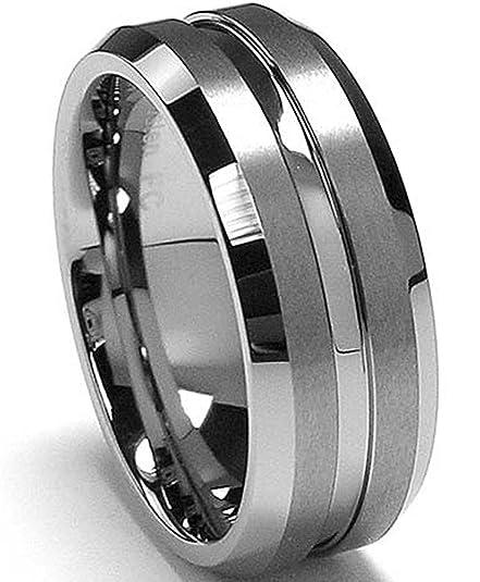 Ultimate Metals® Anillo de Matrimonio Tungsteno Para Hombre, Banda Comodidad Encajar, Borde Biselado