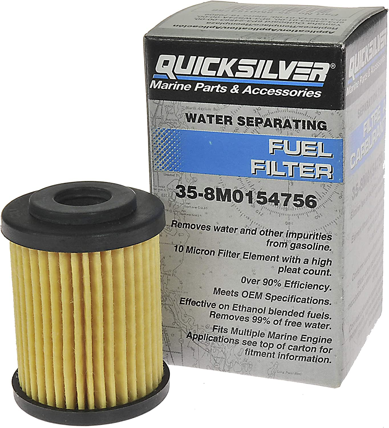 amazon.com: quicksilver 8m0154756 in-line water separating fuel filter -  yamaha & sierra: sports & outdoors  amazon.com