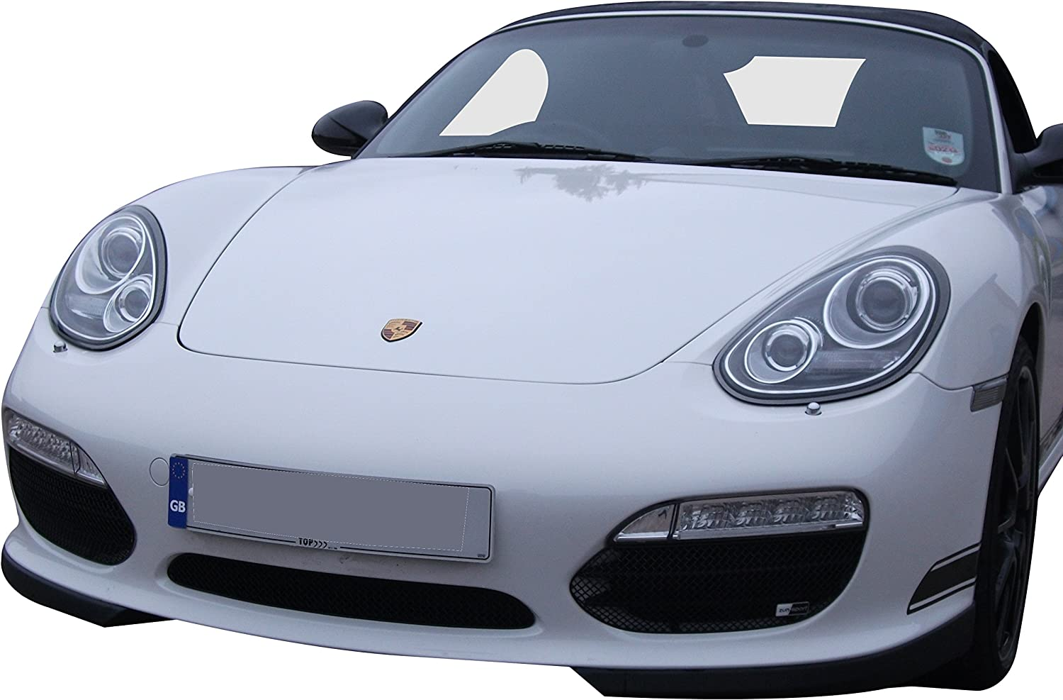 Black finish Zunsport Compatible With Porsche Boxster 987.2 Tiptronic 2009 to 2013 Front Grille Set