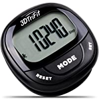 3DTriFit 3D Pedometer Activity Tracker   Best Pedometer for Walking with Pause Function & 7-Day Memory for Men & Women. Fitness Tracker Accurately Monitors Steps, Calories Burned, Distance & Speed.