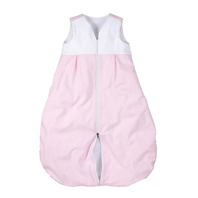 wellyou Saco de Dormir para bebés Kids, Forrado con Terry, Rosa y Blanco Vichy Check, para niñas, Talla 116-158: Amazon.es: Ropa y accesorios