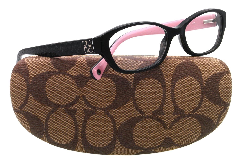 Amazon.com: Coach HC6002 Cecilia Eyeglasses 5053 Black Demo Lens 51 ...