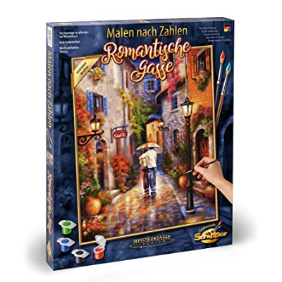 Noris Spiele MNZ-Romantische Schipper Paint Numbers – Romantic 609130788 Gasse, 40 x 50 cm Multicoloured, Colourful: Toys & Games