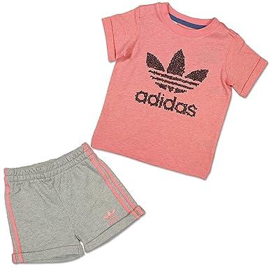 verkauft beste Turnschuhe neuartiges Design adidas Baby Kinder Sommer Trefoil Set MÄDCHEN Jogger Hose + ...