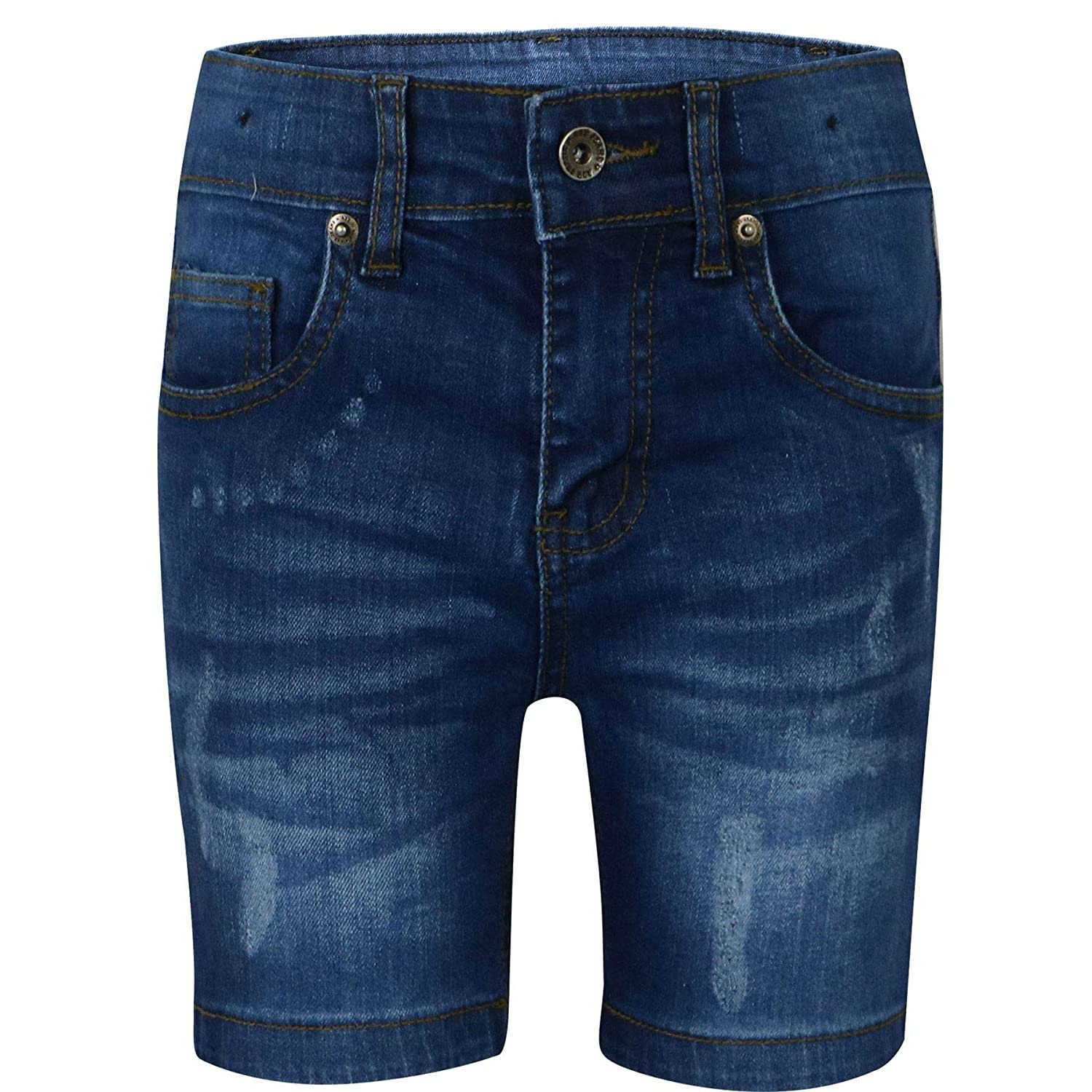 A2Z 4 Kids® Kids Boys Shorts Designer's Dark Blue Denim Ripped Chino Bermuda Jeans Shorts Casual Knee Length Half Pant New Age 5 6 7 8 9 10 11 12 13 Years