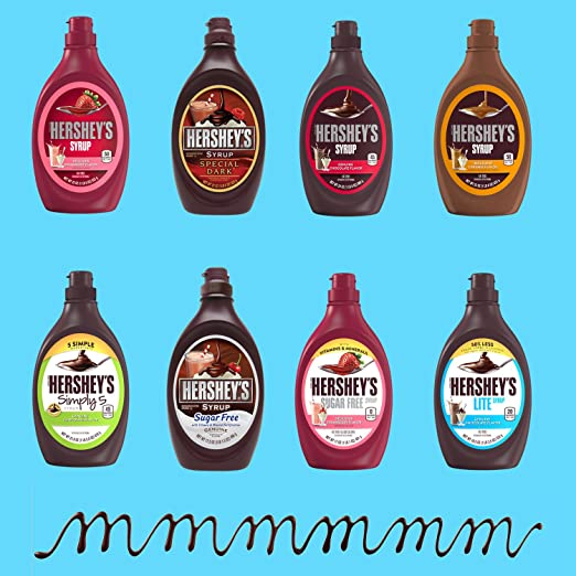 amazon com hershey s chocolate syrup simply 5 21 8 ounce pack