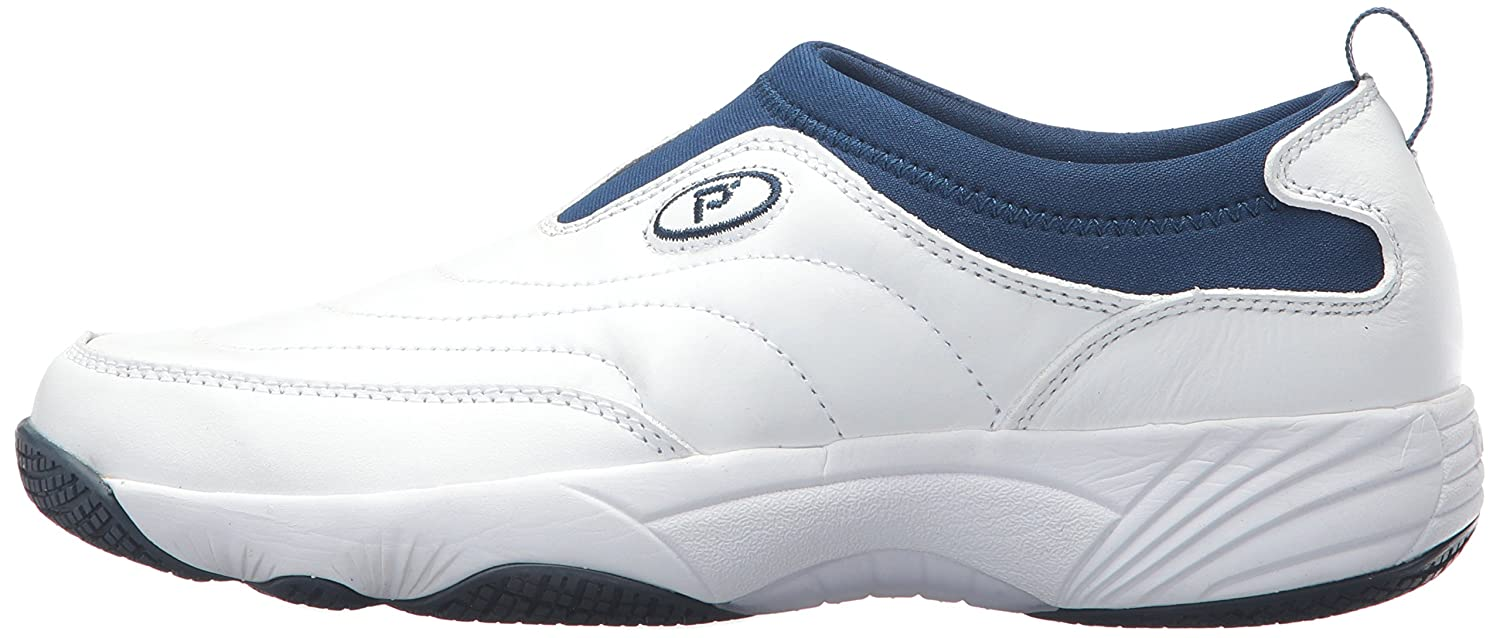Propet Women's Wash N Wear Slip on Ll Walking US|Sr Shoe B06XRTW2Z7 8.5 4E US|Sr Walking White Navy aede3a