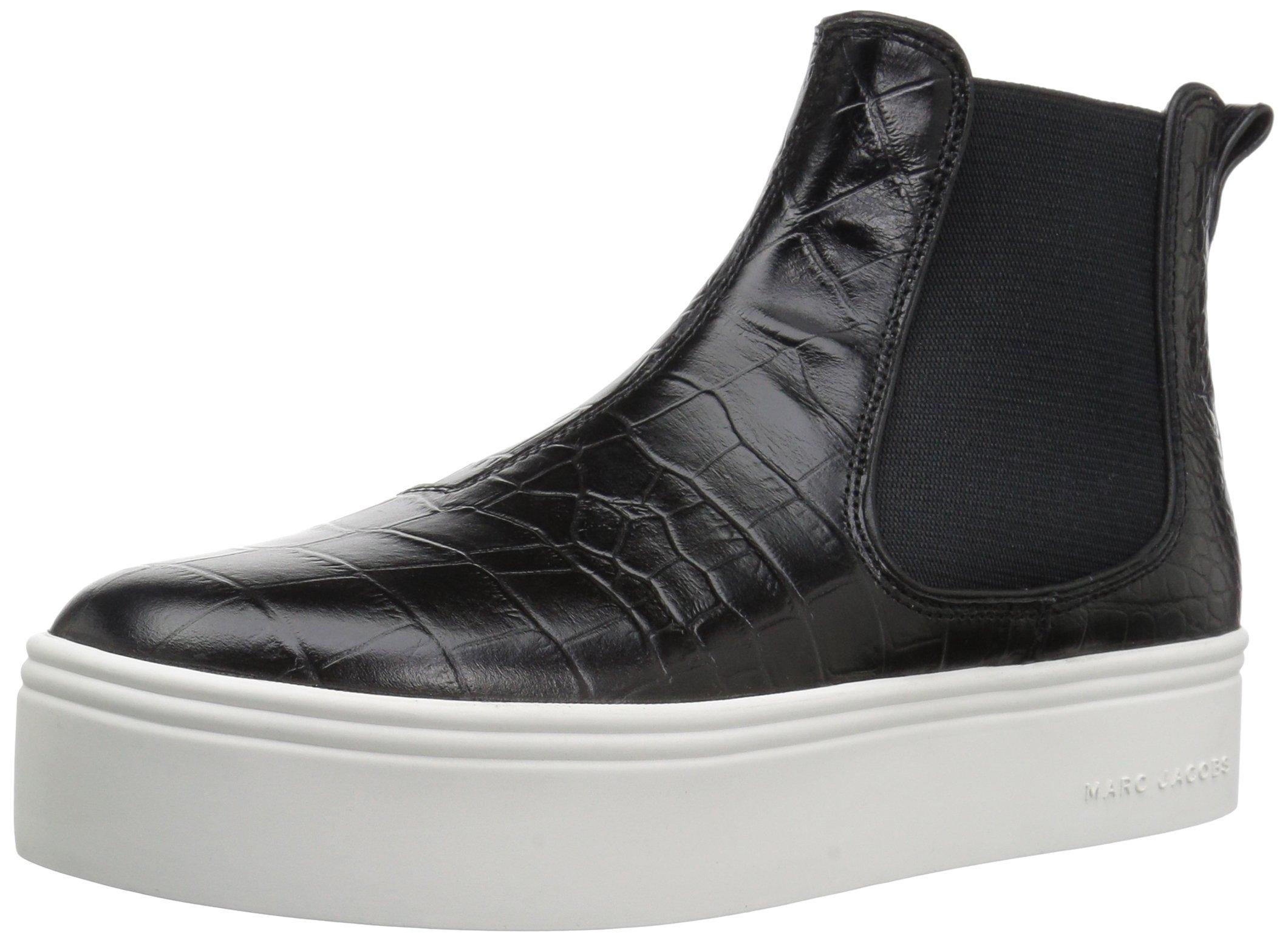 Marc Jacobs Women's Vesey Platform Hi Top Sneaker, Black, 35 M EU (5 US)