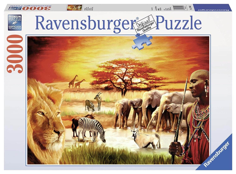 3000 Pezzi Ravensburger 17056 Puzzle Fierezza du Massai