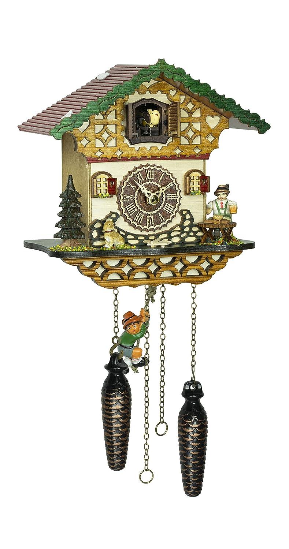クォーツ式鳩時計 シュヴァルツヴァルド(黒い森)の家  スイング TU 4264 QMS B07DVV8DMF