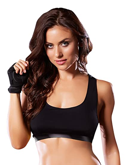 ae0ada4bfe4 Seven  til Midnight Women s Sports Bra with Lace-Up Corsetry Back at Amazon  Women s Clothing store