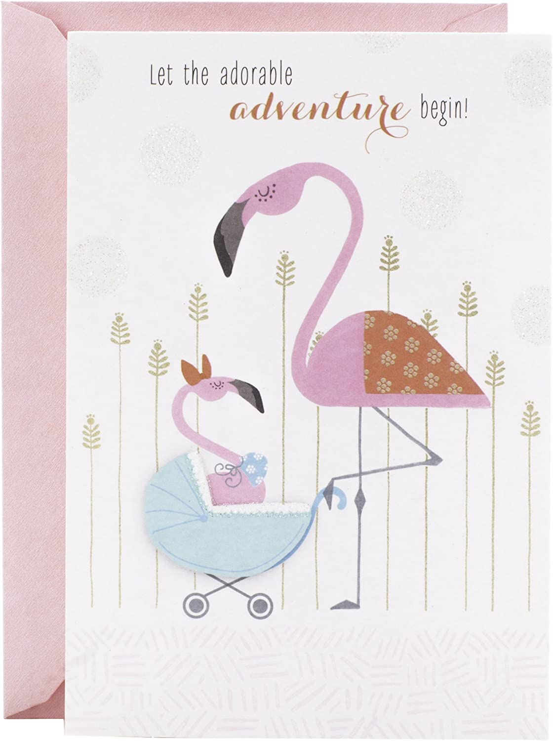 Amazon Com Hallmark Baby Shower Card Flamingo Office Products