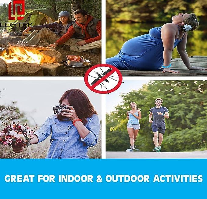 Repelente de mosquitos pulseras 10 unidades - Natural resistente al agua insectos & Bug pulsera, Ultimate deet-free Control de plagas para adultos, niños, ...