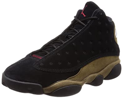 best authentic 6dcfc e7ad0 Nike Mens Air Jordan 13 Retro Olive BlackRed-Olive Suede Size 10