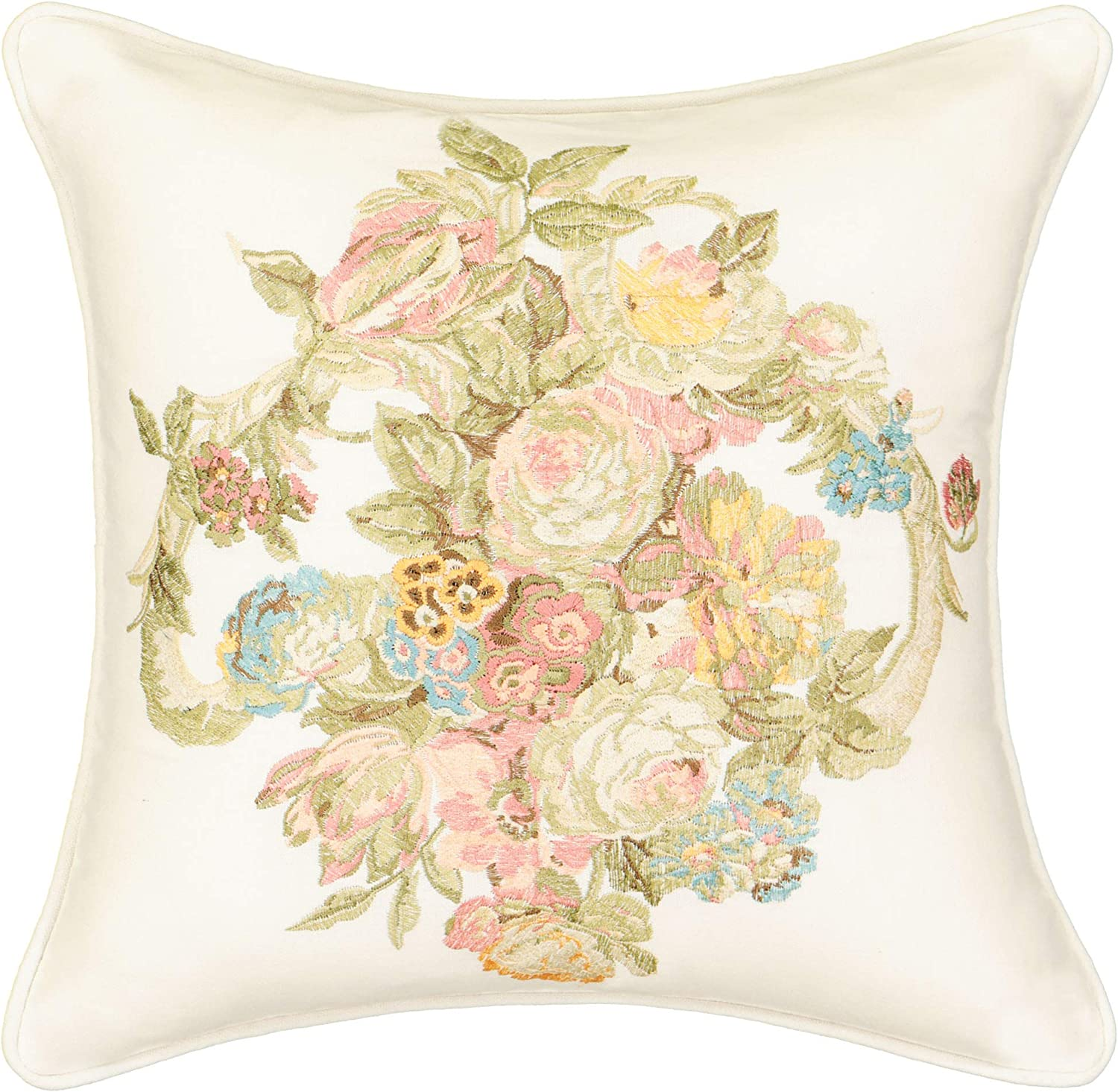 Waverly Spring Bling Decorative Pillow for Sofa Couch Bedroom Living Room, 16x16, Vapor