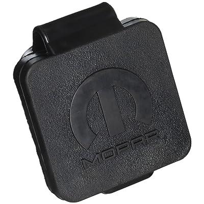 """Mopar Black 1 Pack 82208455AB Hitch Plug, 2"""", Logo: Automotive"""