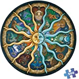 500 Pieces Puzzles for Adults Round Jigsaw Puzzles Zodiac Floor Puzzle Kids DIY Toys for Creative Gift Home Decor…