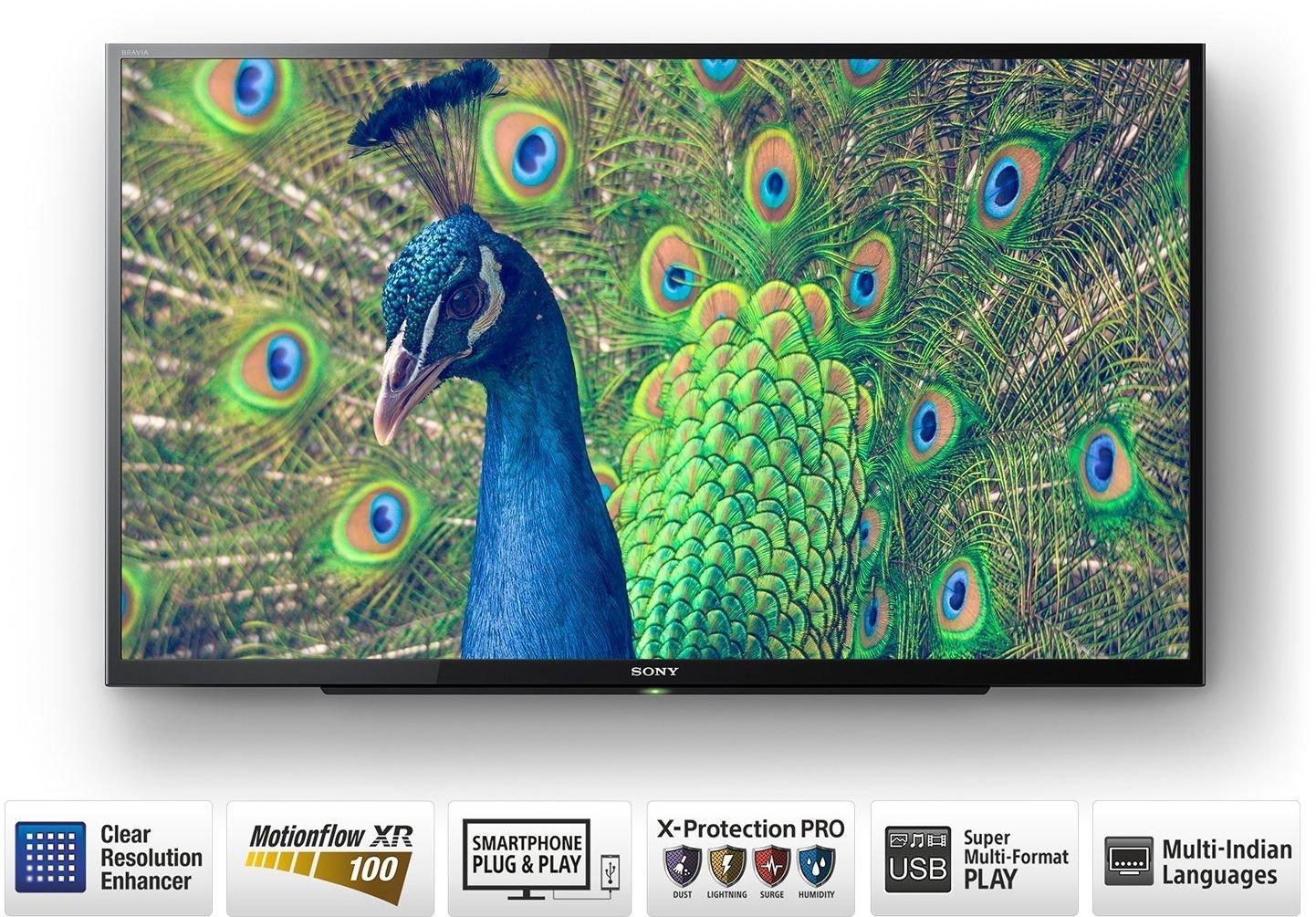 Sony Bravia 80 cm (32 Inches) HD Ready LED TV KLV-32R302E (Black) (2017  model)