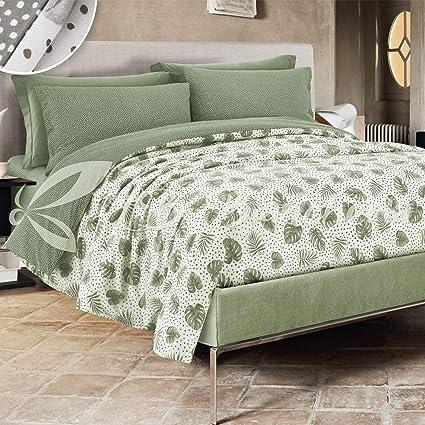 Letti Su Misura Ikea.R P Completo Lenzuola Foglie Made In Italy 100 Cotone A Trama