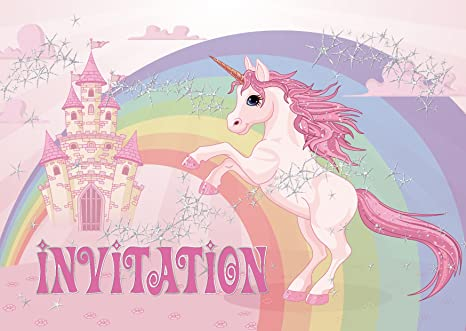 Edition Colibri 10 Licorne Invitations Anniversaire Fille Lot De