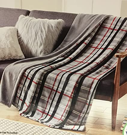 Amazon Better Homes And Gardens Gray Plaid Oversize Reversible Stunning Better Homes And Gardens Throw Blanket