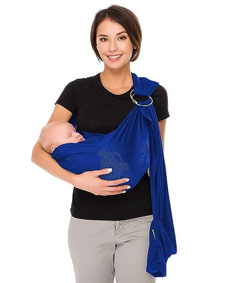 CUBY 💖 Fular Portabebé Unisex, Un Tamaño para Todos - Porta bebé para Madre y Padre - Calidad superior, Multiuso: Portador, Manta para ...