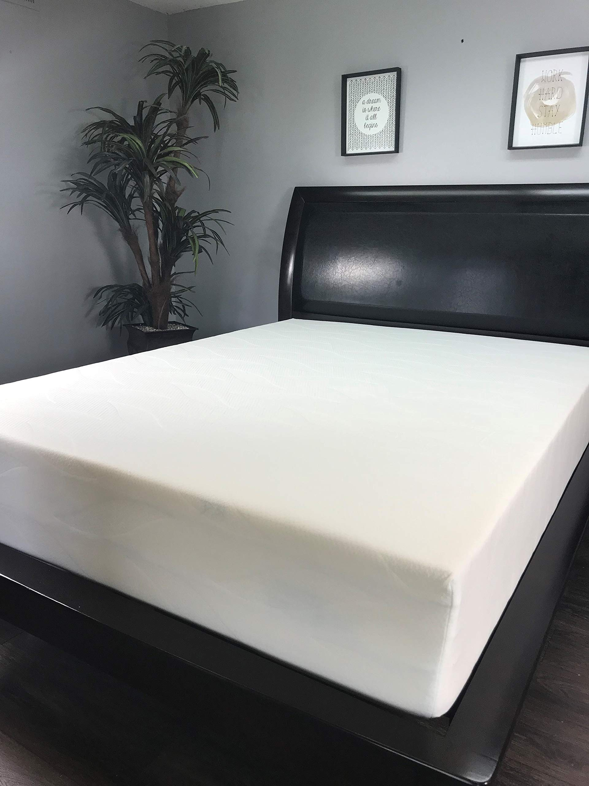 American Mattress Company 8'' Graphite Infused Memory Foam-Sleeps Cooler-100% Made in The USA-Medium Firm (34x75) by American Mattress Company