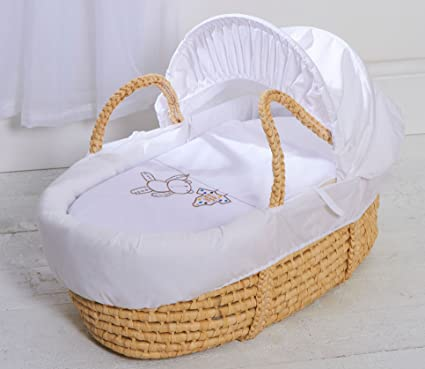 Moses cesta con fundas de colchones y Natural con Soporte balancín gris para colgar Ted Palma