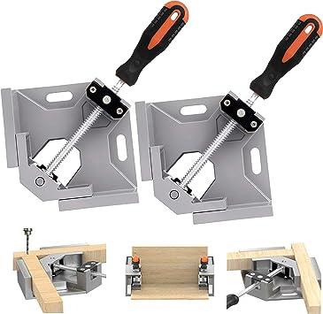 2PCS Woodworking Corner Clamp 90° Right Angle DIY Tool Metal Vice Wood Set