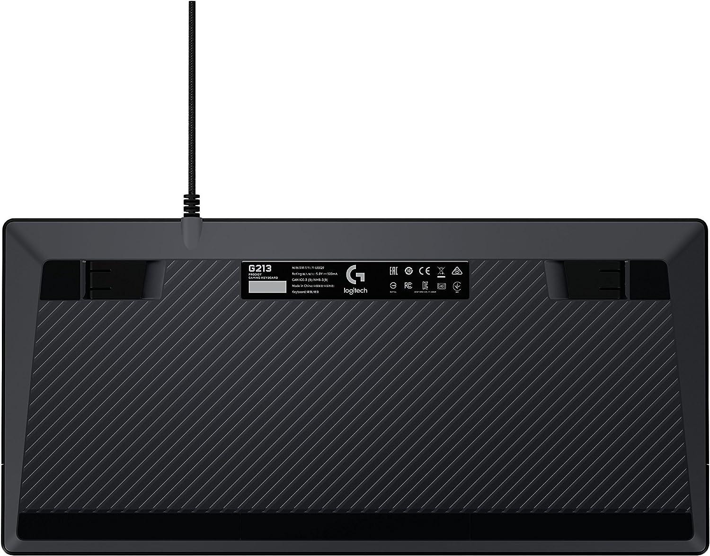 Personnalisable Logitech G213 Prodigy Commandes Multim/édia D/édi/ées R/ésistant aux /Éclaboussures Eclairage RVB LIGHTSYNC Clavier Gamer Allemand QWERTZ Noir Clavier Gaming