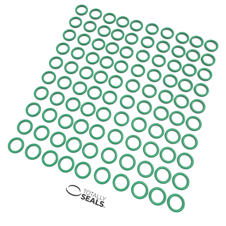 8 x 3 mm, 14 mm, dureza 75A Anillas de goma verde Viton FKM
