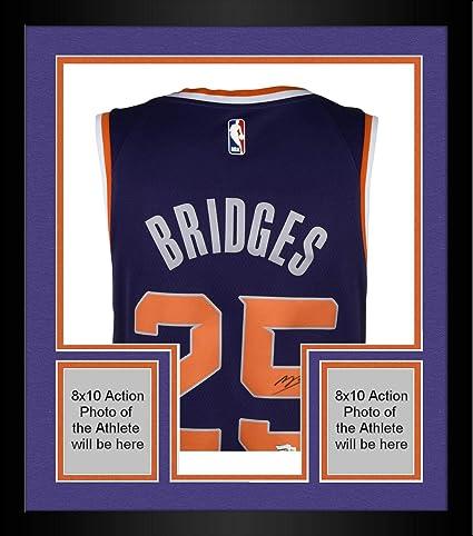 18216c7cc14 Image Unavailable. Image not available for. Color: Framed Mikal Bridges  Phoenix Suns Autographed Nike Purple Swingman Jersey ...