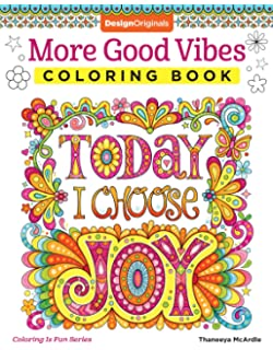 More Good Vibes Coloring Book Is Fun Design Originals 32 Beginner