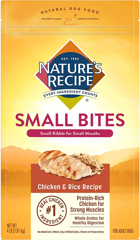 Nature's Recipe Small Bites Dry Dog Food, Chicken & Rice