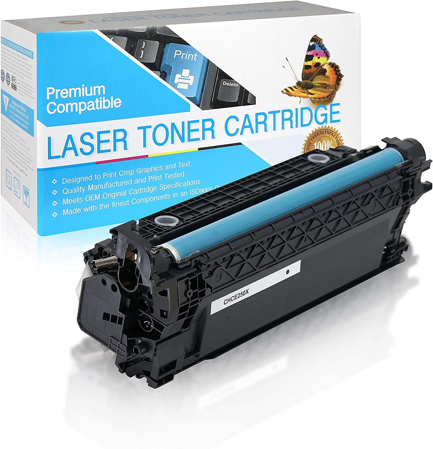 SuppliesOutlet Compatible Toner Cartridge Replacement for HP 504X CE250X Black,1 Pack