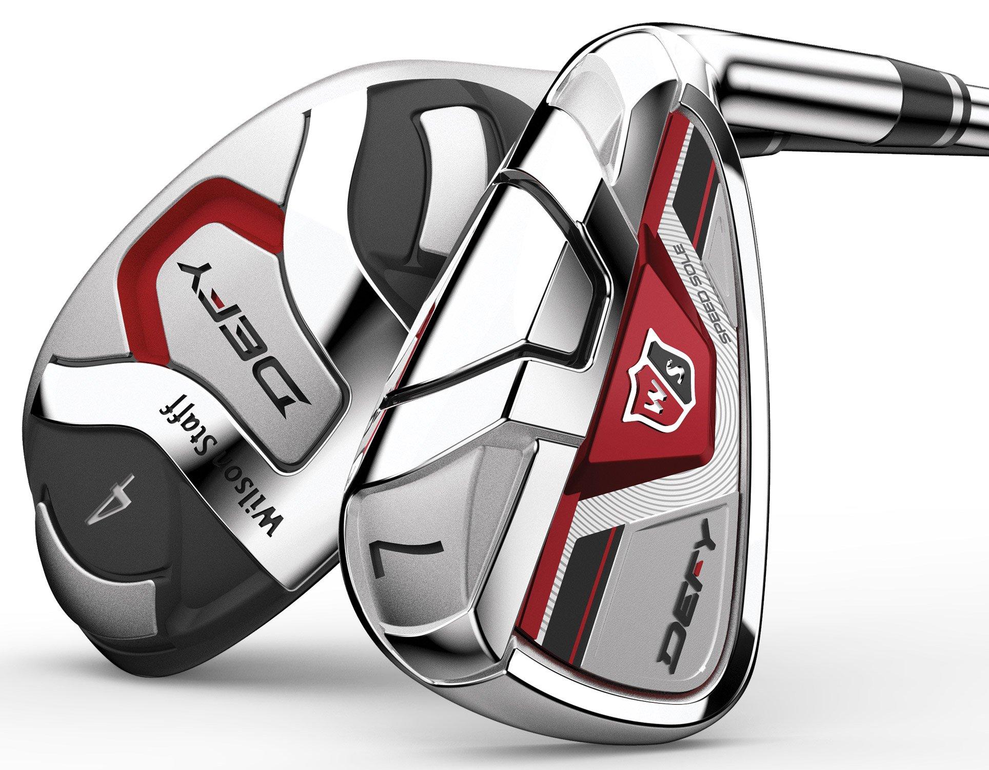 Wilson Golf- Staff Defy Hybrid Irons Graphite #4-6, 7-PW/GW Senior Flex