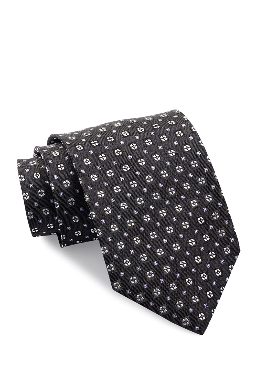 Boss Hugo Boss Circles & Squares Italian Silk Tie, Black 50313876