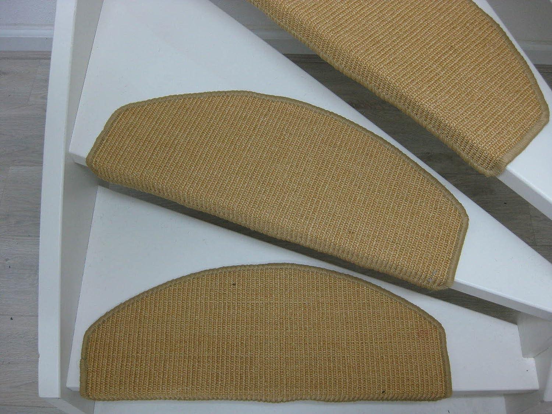Farb Stufenmatte Sisal Stufenmatten Stufenteppich Treppenteppich 22x56cm versch