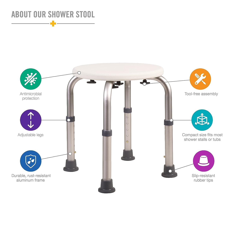 Amazon.com: Bath Stool for Shower - Bathroom Bench Shower Stool ...