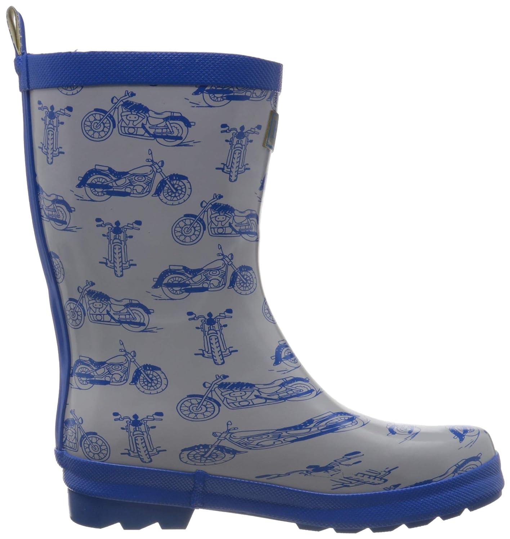 Printed Wellington Rain Boots, Stivali di Gomma Bambino, Verde , 34 EU